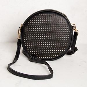 Mini Studded Round Shoulder Bag