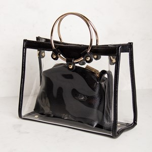Clear Ring Handle Small Bag