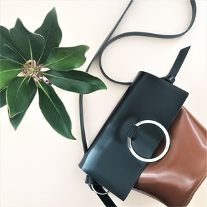 Two Tone Ring Flap Over Mini Bucket