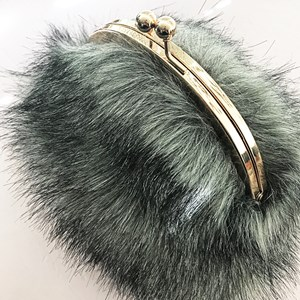 Faux Fur Purse Style Hand Bag