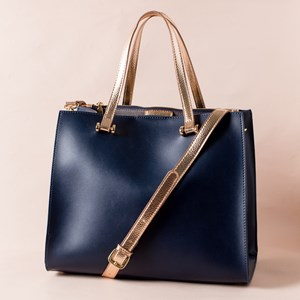 Metallic Handles Smooth Everyday Bag