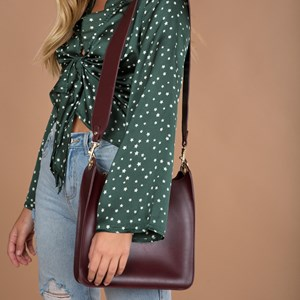Wide Long Strap Shoulder Bag