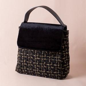 Boucle Velvet Flap Over Mini Bag