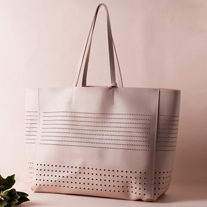 Cut Out Spot Panels Smooth Tote Bag