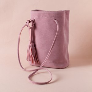 Suede Mini Festival Bucket Bag