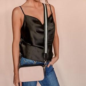 Webbed Handle Double Zip Camera Bag