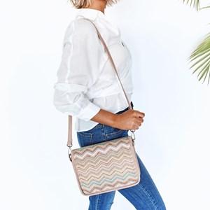 Gypset Weave Flap Over Shoulder Bag