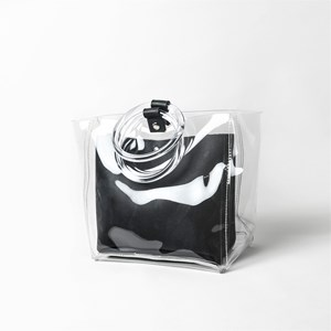 Round Handle Pouch Clear Bag