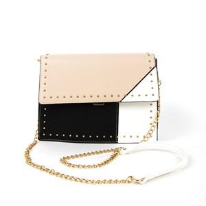 Mini Stud Edge Tri Tone Flap Over Lunch Bag