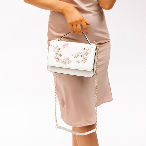 Floral Vines Detail Flap Over Lunch Bag