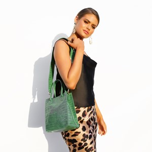 Reptile Mini Structured Top Handle Bag