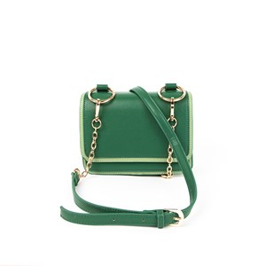 Two Tone Fold Over Ring Detail Lunch Bag