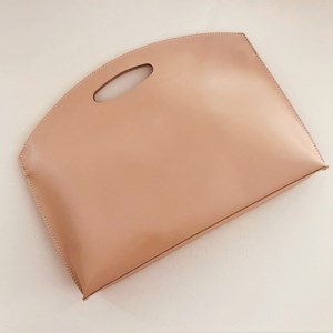 Self Lined Cut Out Handle Mini Tote Bag