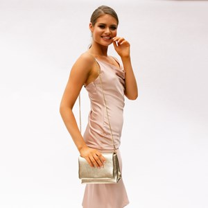 Metallic Fold Over Lunch Bag