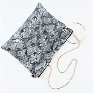 Snake Chain Mail Ring Detail Shoulder Bag
