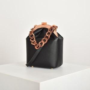 Resin Chain Framed Lady Purse Bag