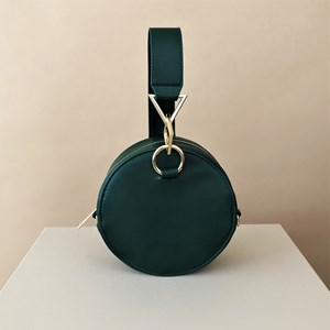 Tribeca Metal Shapes Round Structured Bag