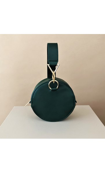 Tribeca Metal Shapes Round Structured Bag