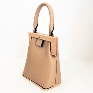 Timber Base & Frame Vegan Leather Purse Bag