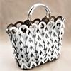 Looped Teardrops Vegan Leather Tote Bag - pr_60461