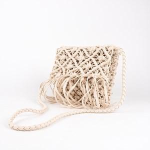Diamond & Fringe Macrame Cross Body Bag
