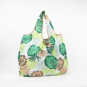 Monstera Leaf Print Medium Shopper Bag