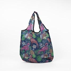 Tropical Foliage Print Small Shopper Bag