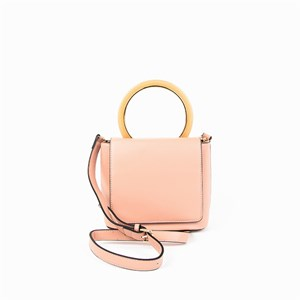 Resin Ring Handle Flap Over Lady Bag