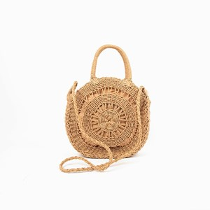 Cut Out Round Basket Bag