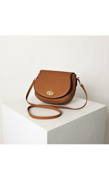 Braid Edge Curved Front Handbag