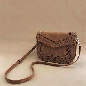 Cut Out Blanket Stitch Handbag