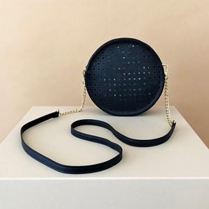 Cut Out Pattern Round Handbag