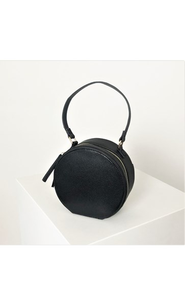 Flat Base Textured Round Bag