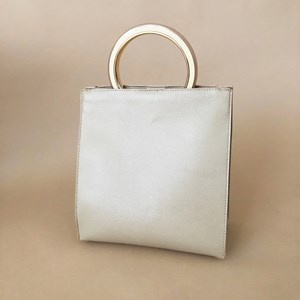 Resin Top Handle Structured Handbag