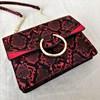 Ring Front Faux Snake Handbag - pr_61521