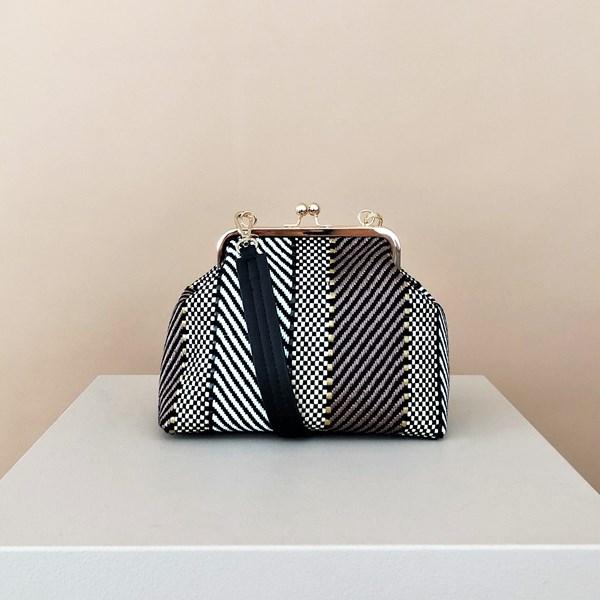 Weave Stripe Purse Top Handbag