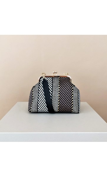 Weave Stripe Purse Top Handbag