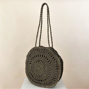 Paper Weave Pattern Round Tote Bag