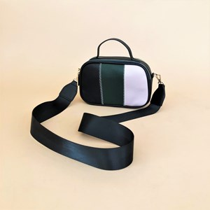 Tri Panel Webbed Strap Camera Bag
