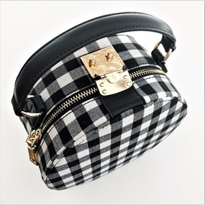 Check Mate Round Structured Bag