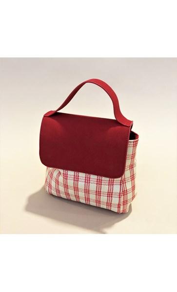 Picnic Weave Vegan Suede Mini Bag