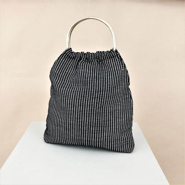 Cotton Weave Metal Ring Market Bag