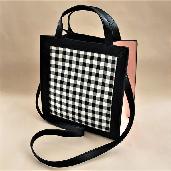 Check Panelled Tote Bag