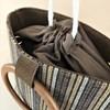 Woven Stripe Timber Ring Bucket Bag - pr_63001