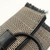 Metallic Weave Fringe Edge Resin Ring Clutch - pr_64383