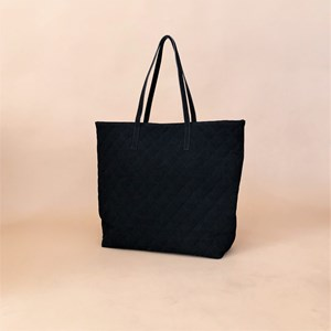 Vegan Suede Quilted Tote