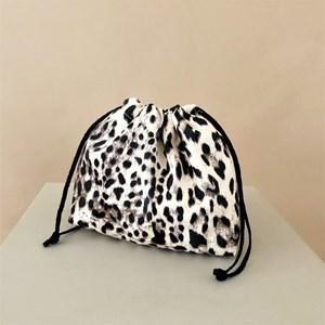 Leopard Print Drawstring Pouch Mini Bag