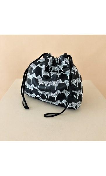 Zebras Drawstring Pouch Mini Bag