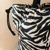 Zebra Print Suede Trim Drawstring Bag - pr_63581