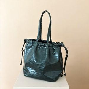 Embossed Croc Drawstring Bag